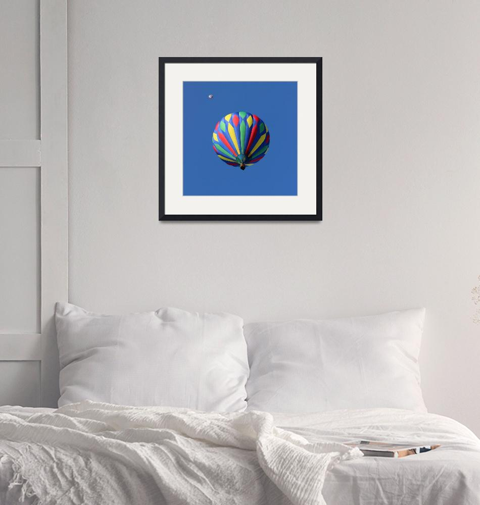 """""""Two Hot Air Balloons Square""""  (2015) by KsWorldArt"""