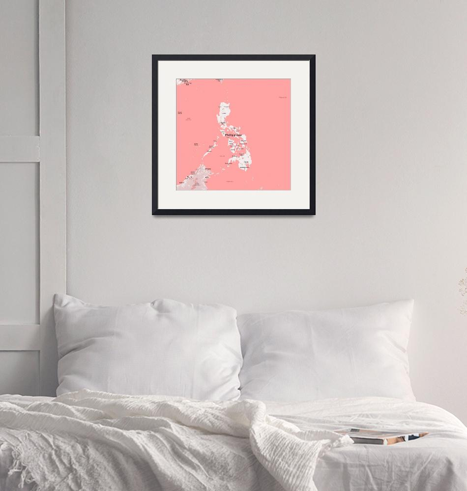 """""""Minimalist Modern Map of Philippines""""  by motionage"""