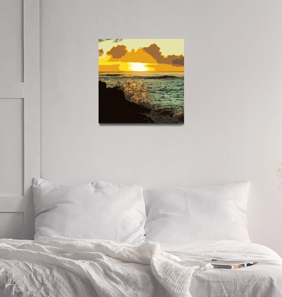 """Sunset Splash""  (2018) by BrianDoherty"