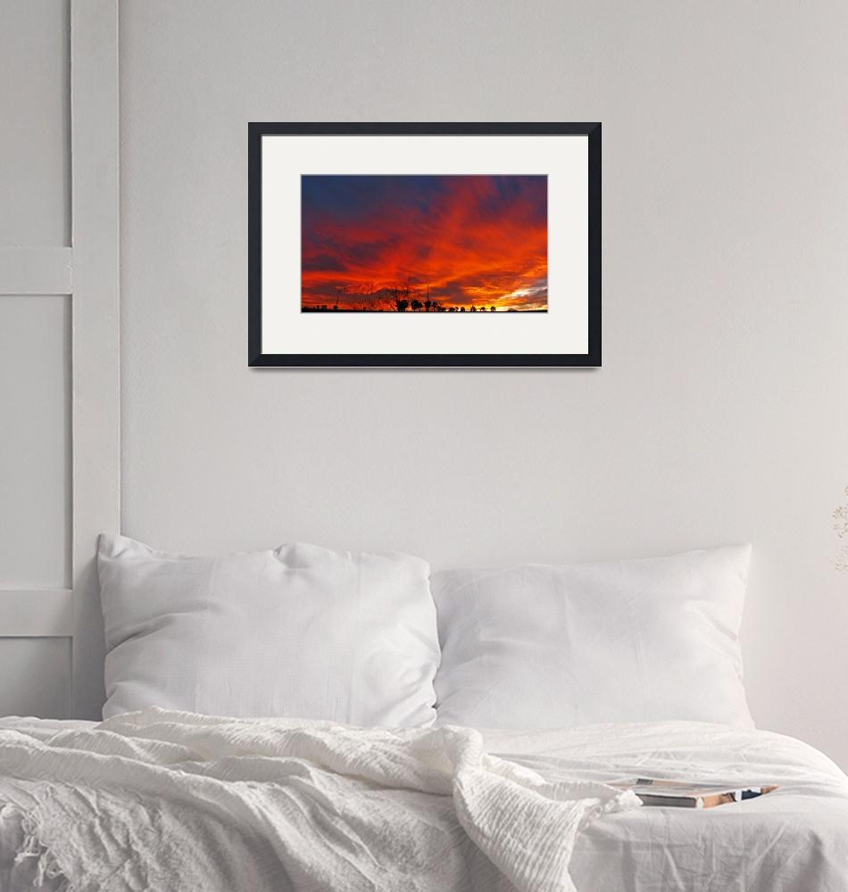 """""""Redd Road Sunset Panorama""""  (2009) by MarksClickArt"""