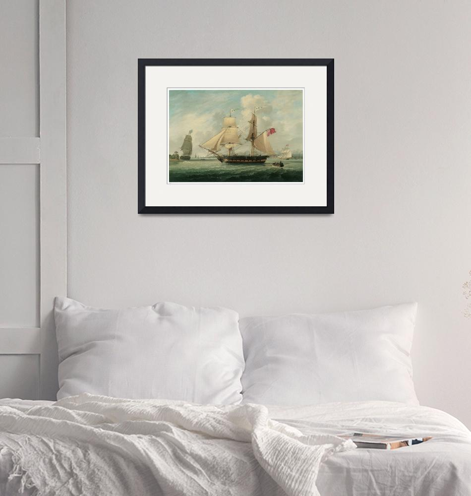 """""""A Brig Entering Liverpool by John Jenkinson""""  by ArtLoversOnline"""