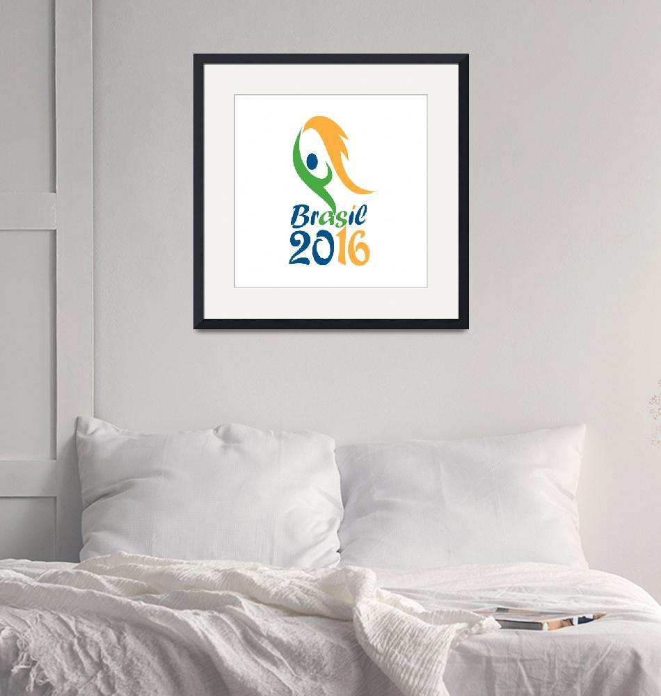 """Brasil 2016 Flames Summer Games""  (2015) by patrimonio"