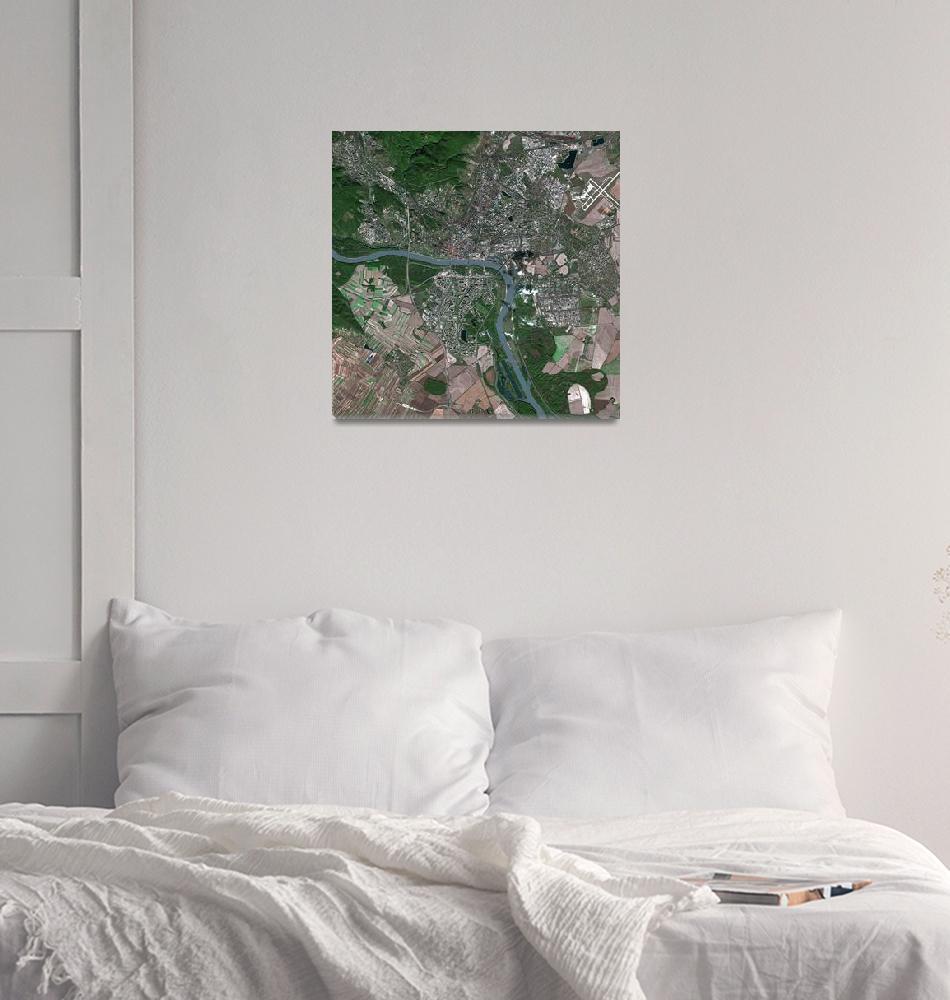 """Bratislava (Slovakia) : Satellite Image""  (2003) by astriumgeo"