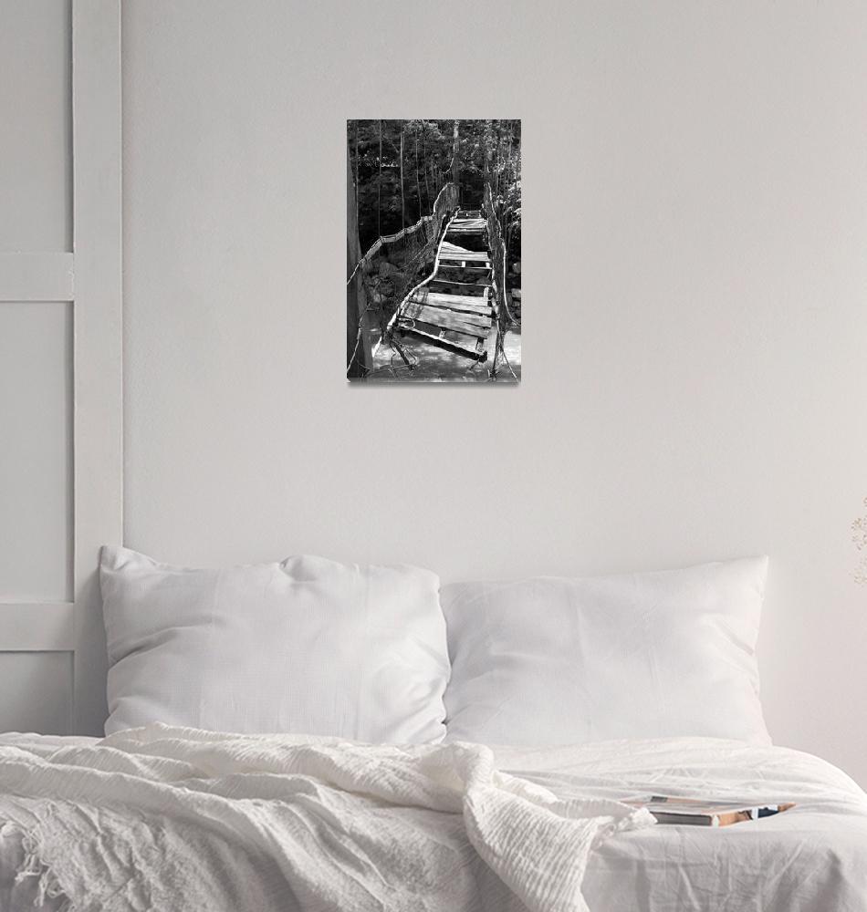 """Abandoned Foot Bridge""  (2012) by paulschlindweinphotos"