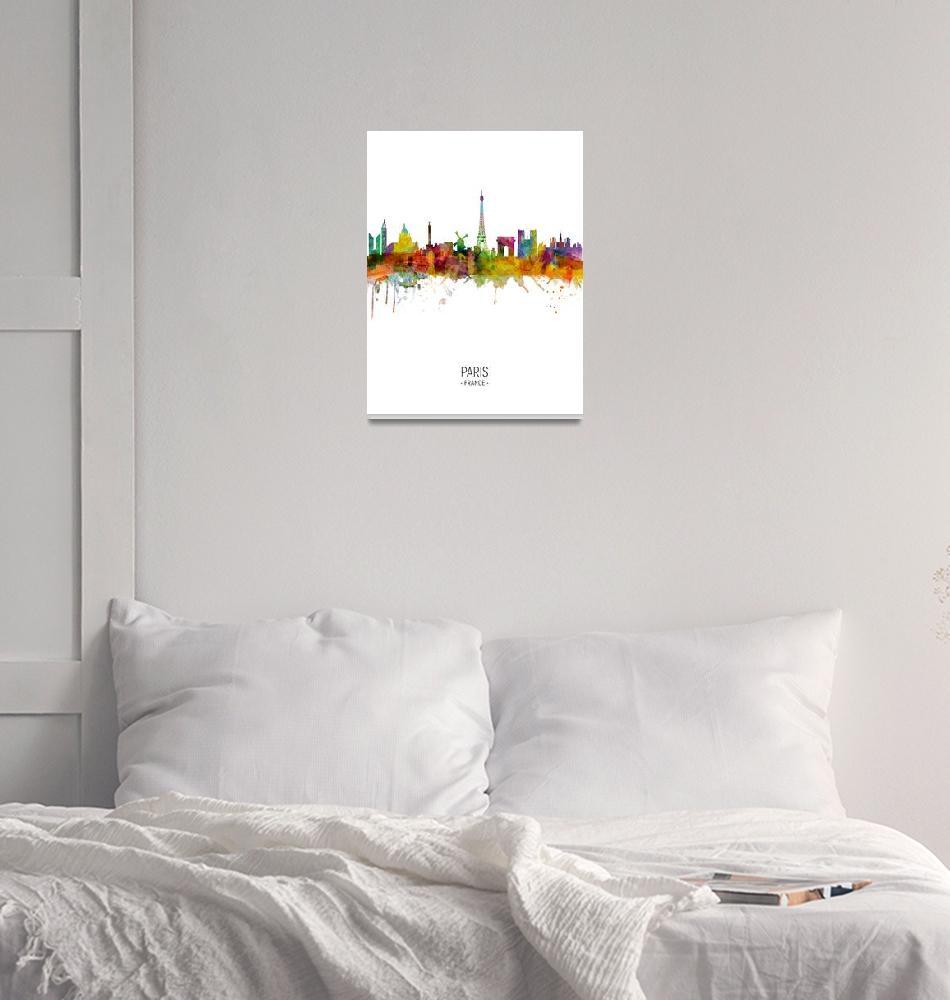 """Paris France Skyline""  (2018) by ModernArtPrints"