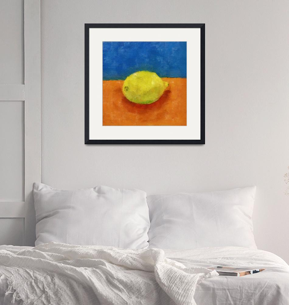 """Lemon with Blue and Orange""  (2014) by Michelle1991"