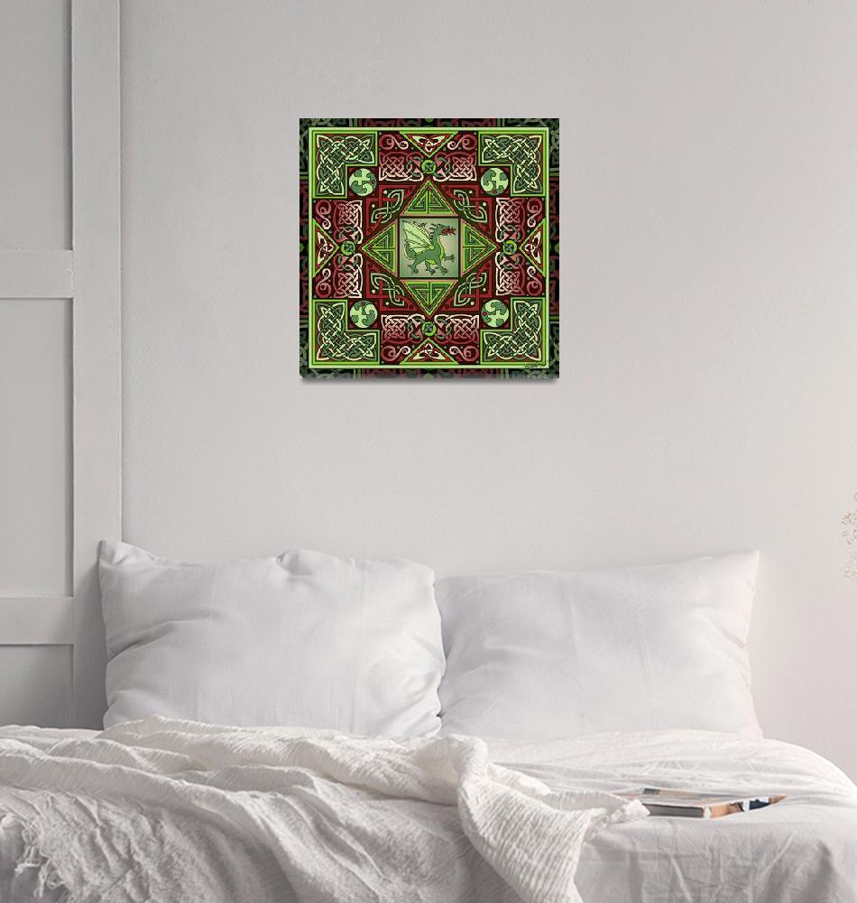 """Celtic Dragon Labyrinth""  by foxvox"