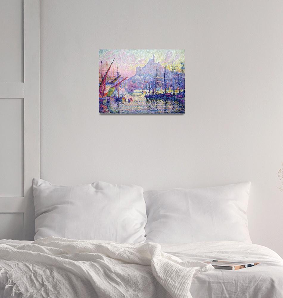 """""""Notre Dame de la Garde Anagoria by Paul Signac""""  by FineArtClassics"""