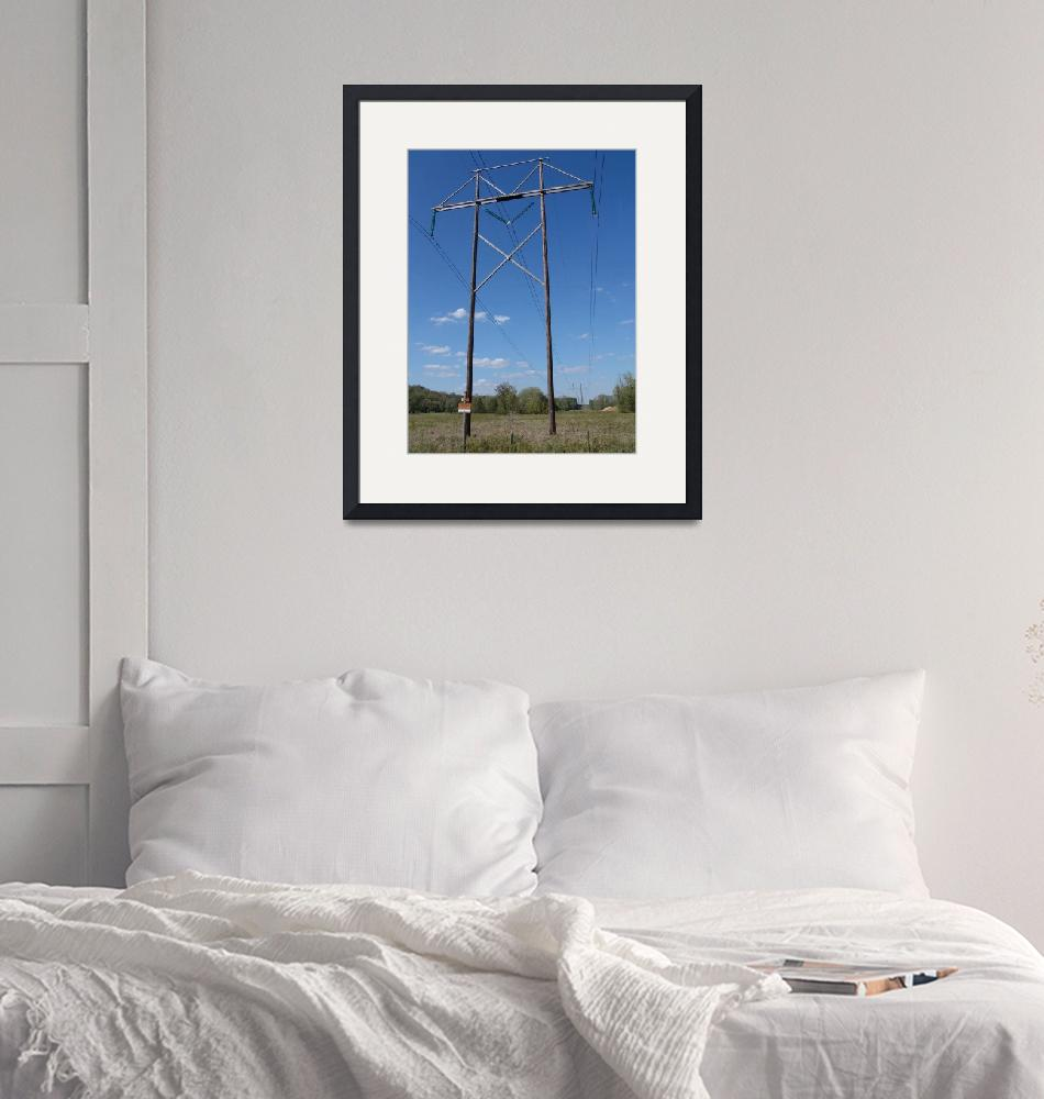 """""""Associated Electric Cooperative 345-kV H-Frame""""  (2012) by TheElectricOrphanage"""