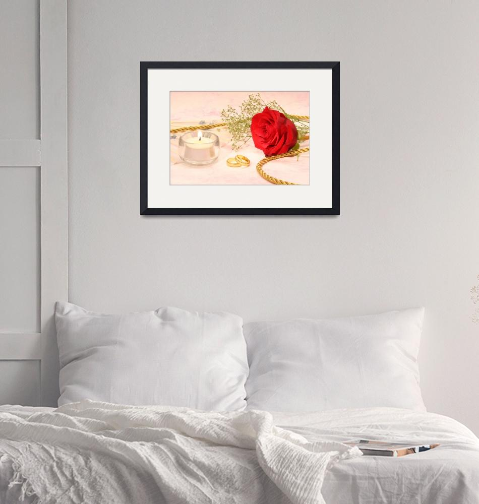 """""""Rose with Wedding Bands"""" by LoriMartin"""