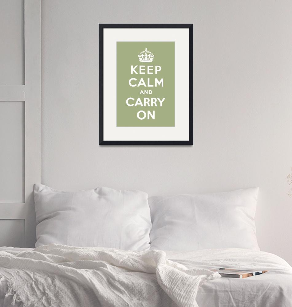 """""""Green Keep Calm And Carry On 6""""  by oldies"""