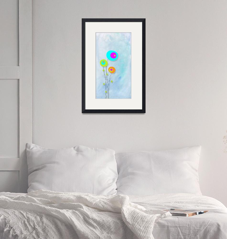"""""""Round flowers blue""""  (2011) by nomi"""