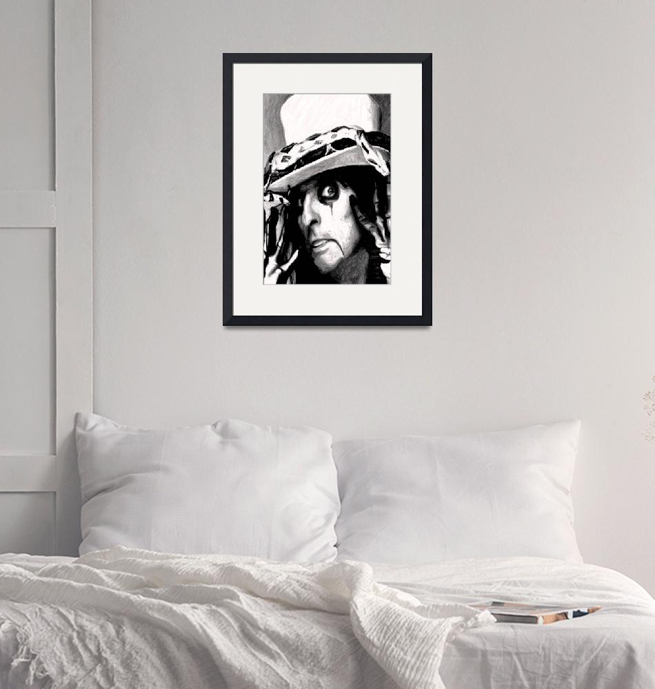 """Alice Cooper""  (2009) by mobiiart"