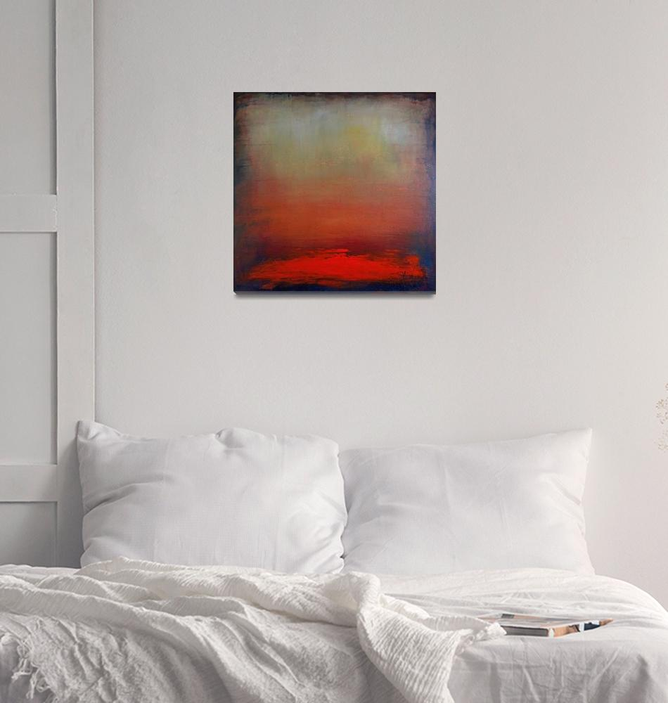 """Hazy Abstract Sunset (Square)""  (2009) by kristensteinfineart"