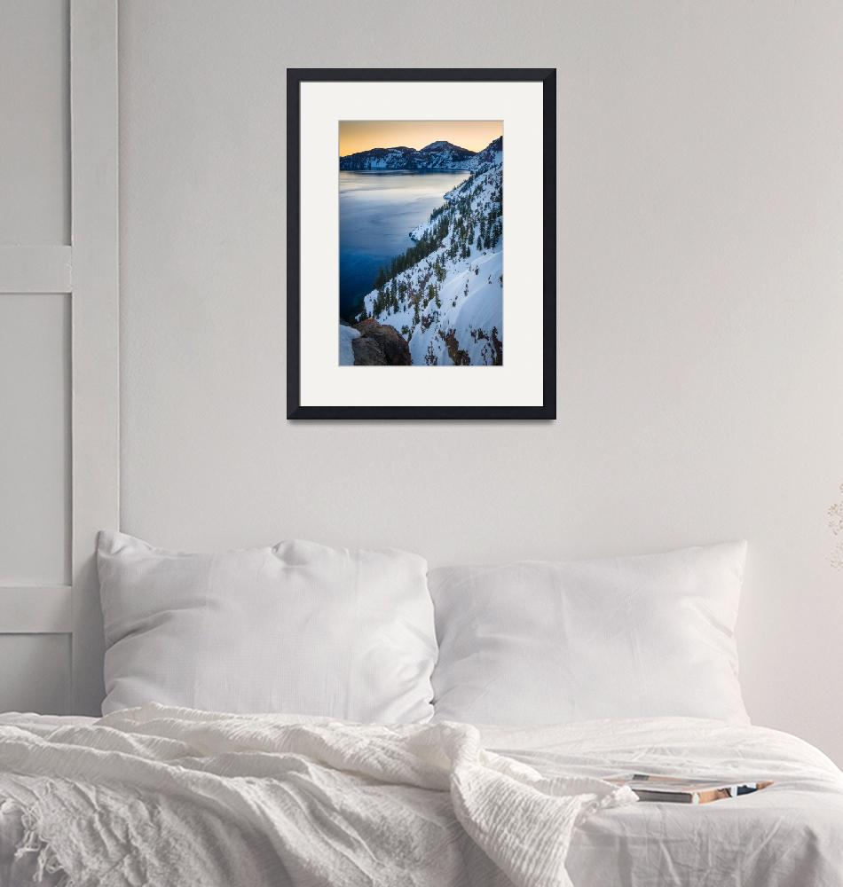 """Winter at Crater Lake""  (2013) by Inge-Johnsson"