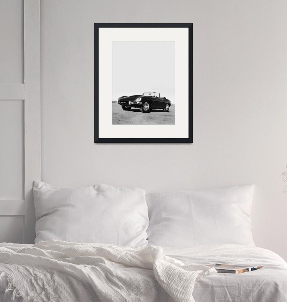 """""""E-Type Series One 1966"""" (2012) by mark-rogan"""