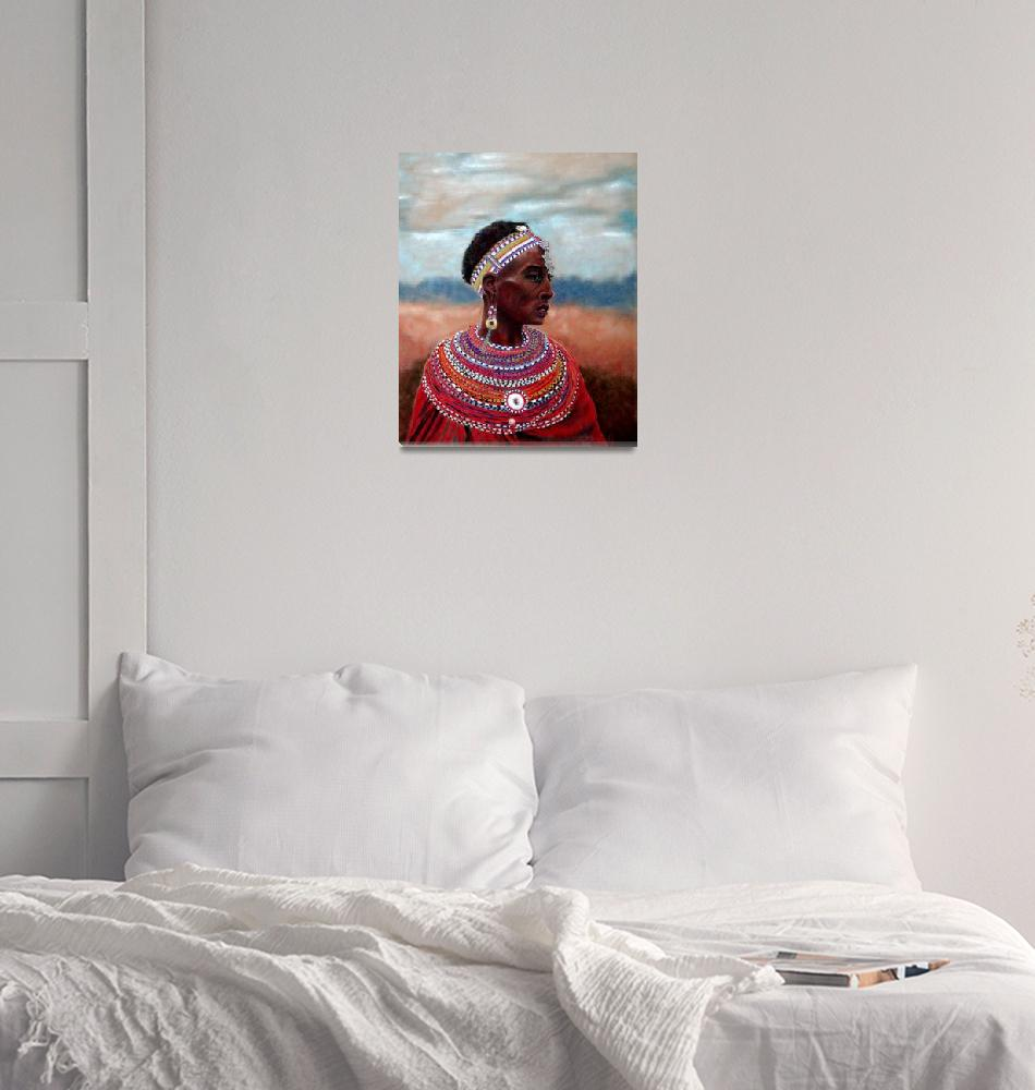 """Samburu Woman""  (2008) by CarolMcCarty"