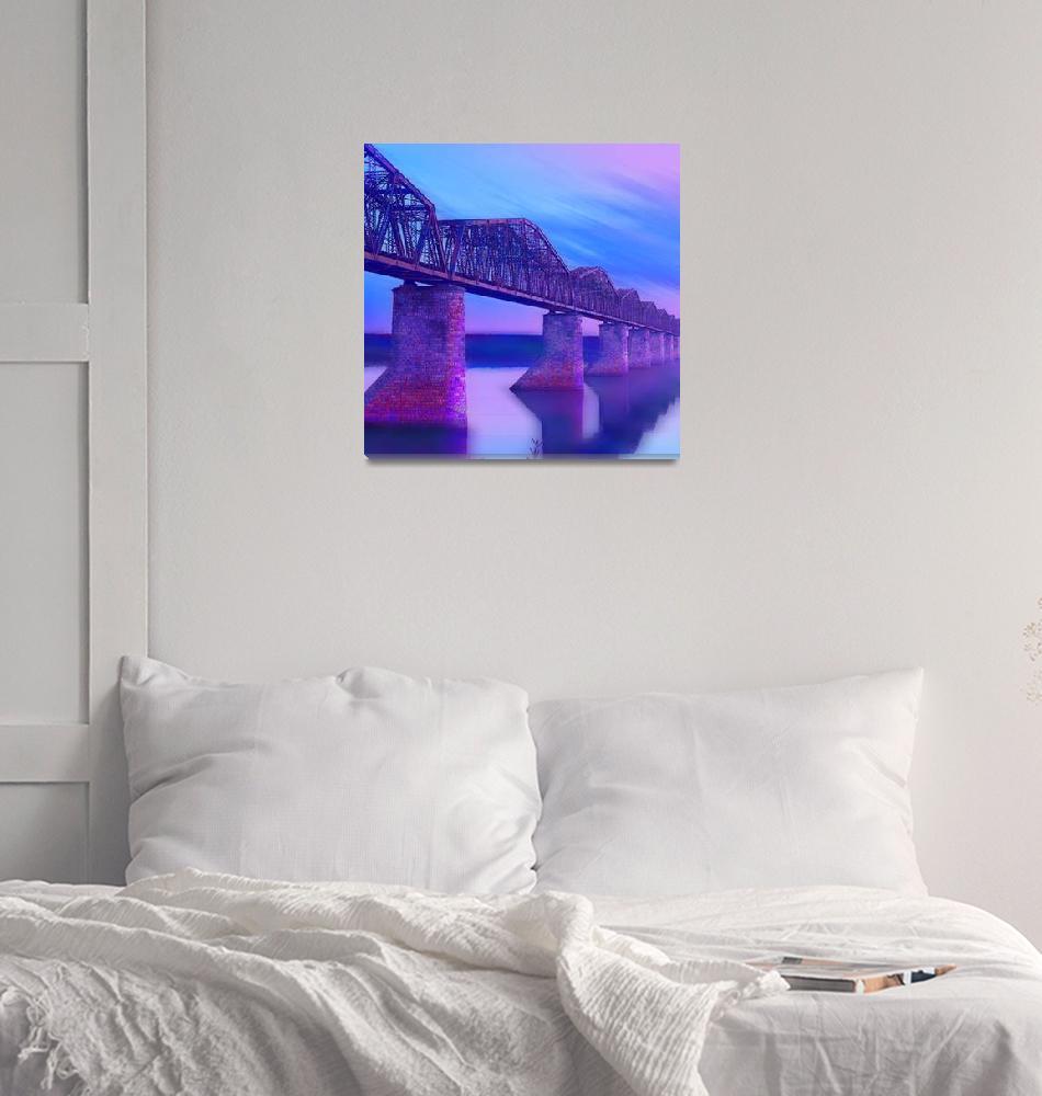 """Hope Bridge Soft""  (2018) by RubinoFineArt"