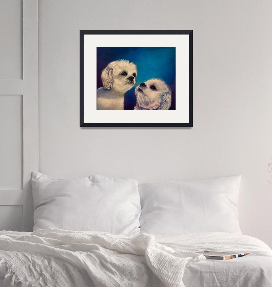 """""""Two puppies""""  (2017) by Zinastr"""