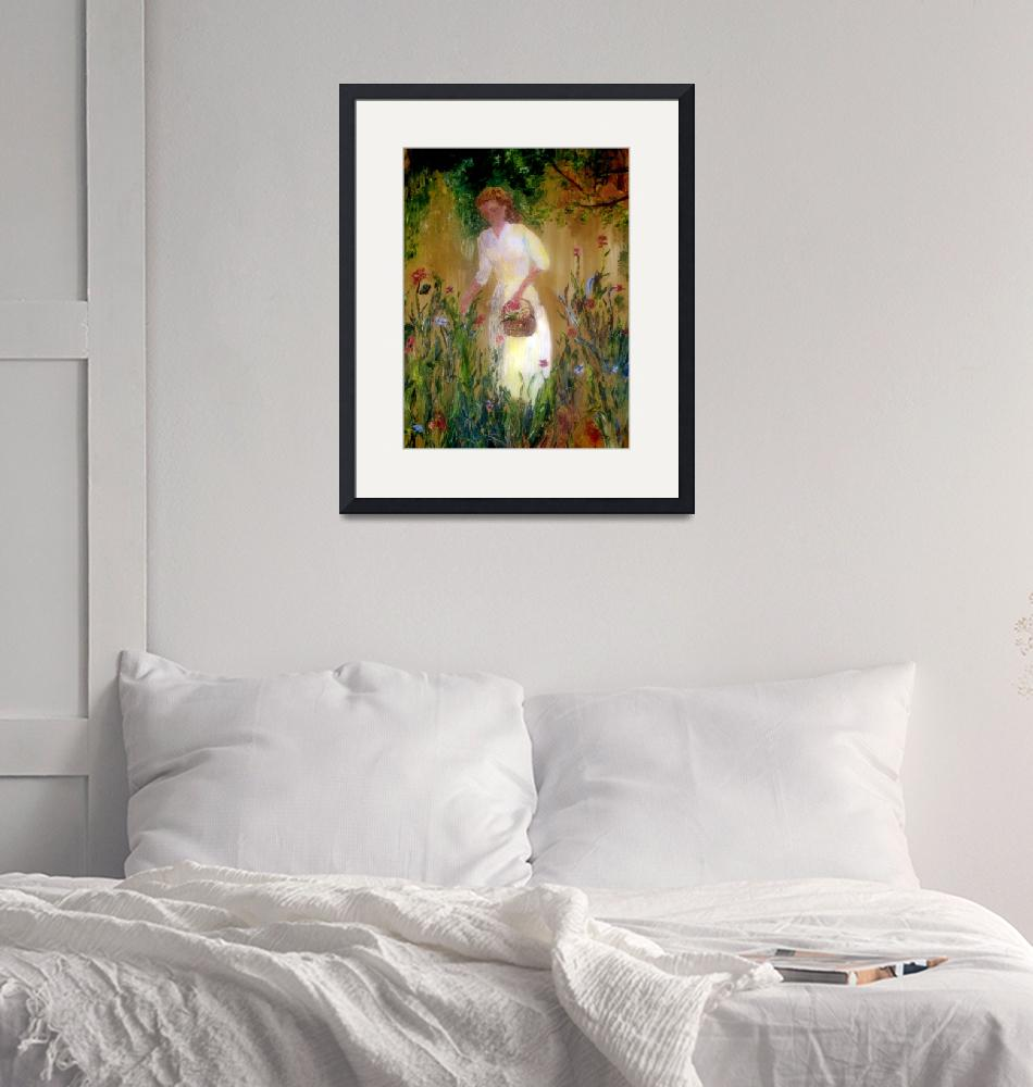 """""""woman in garden"""" (2008) by ExhaleDesignsCollection"""