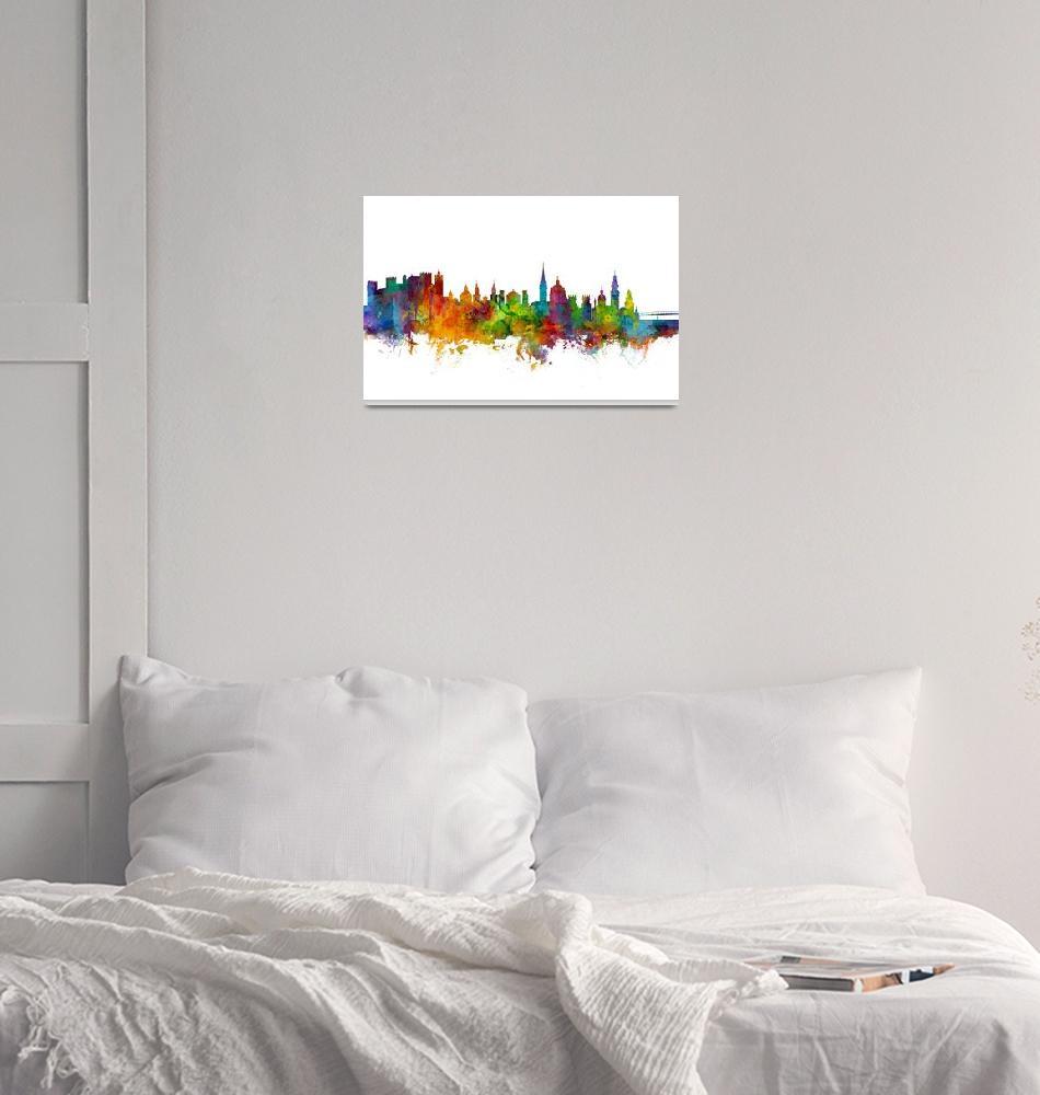 """Salzburg Austria Skyline""  (2017) by ModernArtPrints"