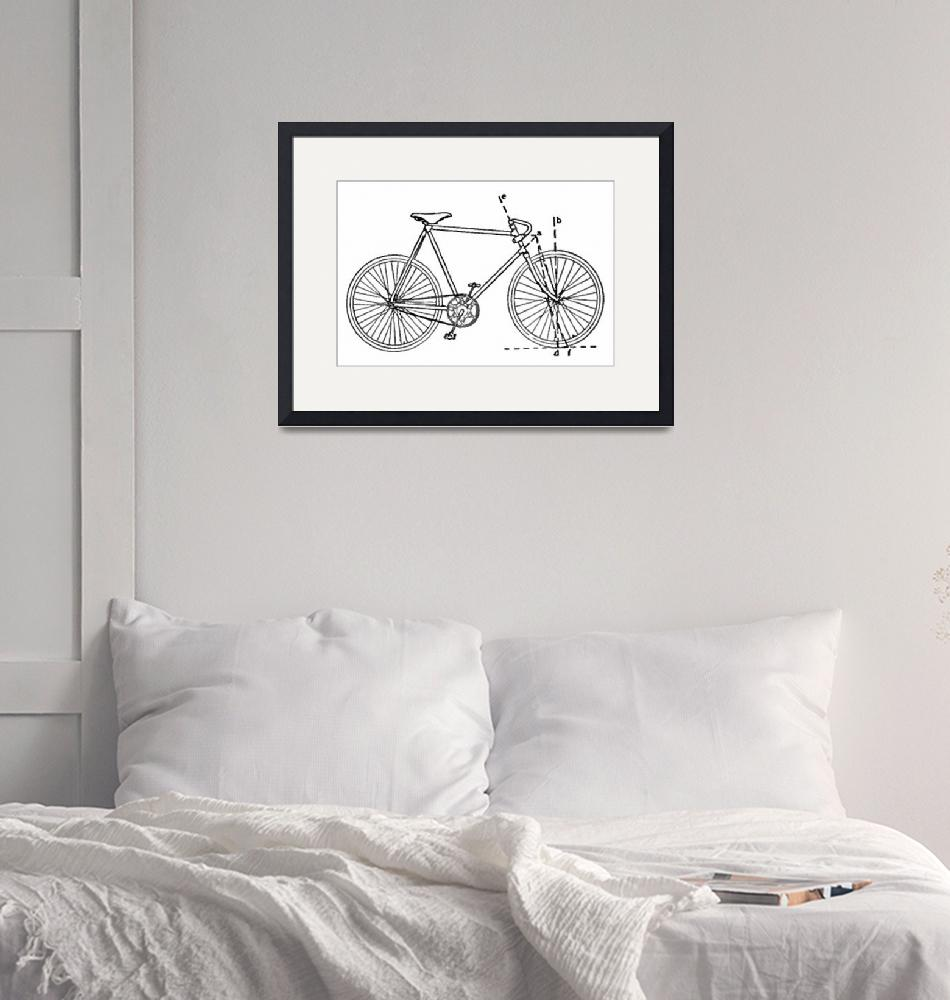 """""""Bicycle Blueprint"""" by Alleycatshirts"""