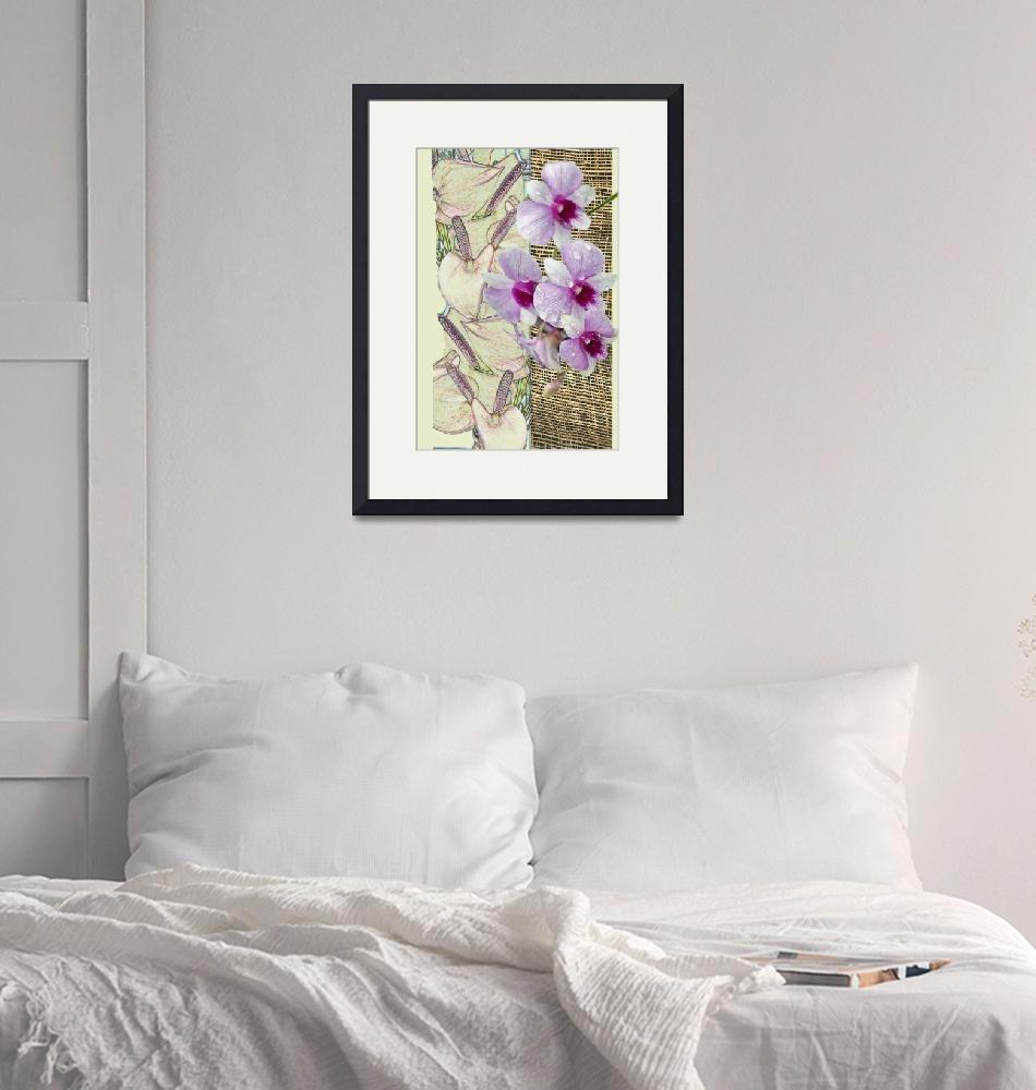"""Orchids on a grid""  (2010) by milikArt"