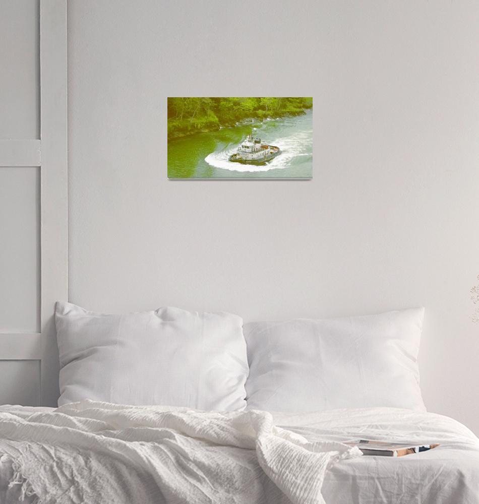 """Panama Canal Tug Boat""  (2008) by petesbest"