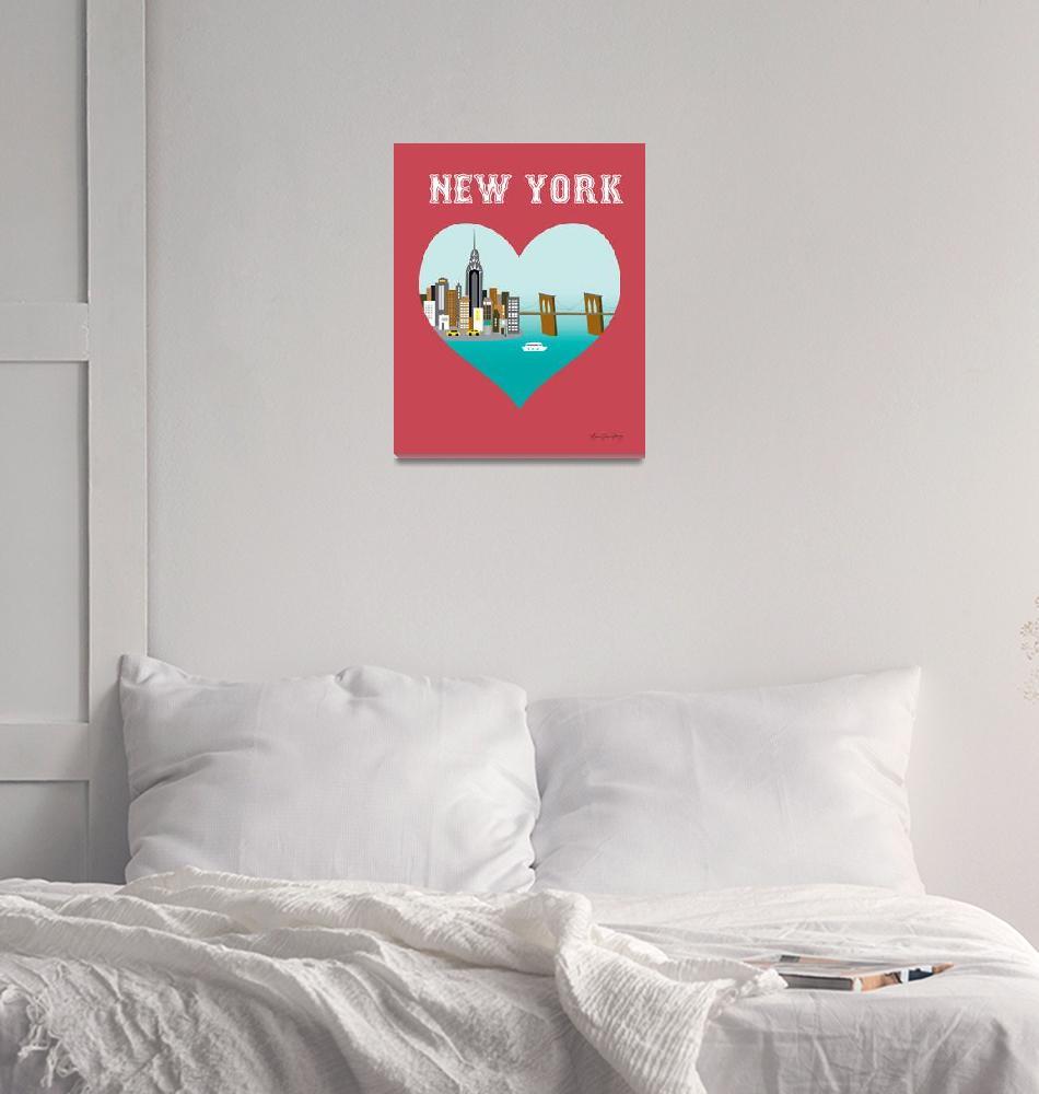 """New York City, New York - Heart""  (2011) by loosepetals"