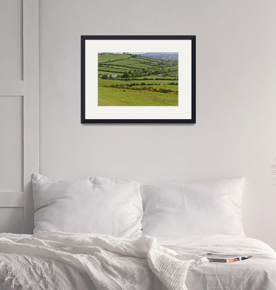 """""""Loughcrew Southwest View with Standing Stone""""  (2014) by MichaelStephenWills"""