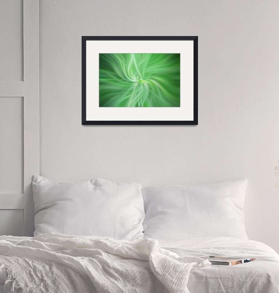 """""""Green Colored Abstract. Concept Health""""  (2017) by JennyRainbow"""