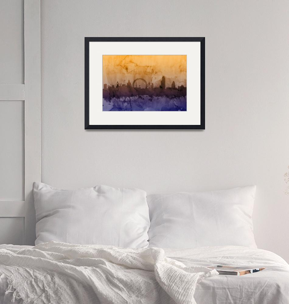 """London England Skyline""  by ModernArtPrints"