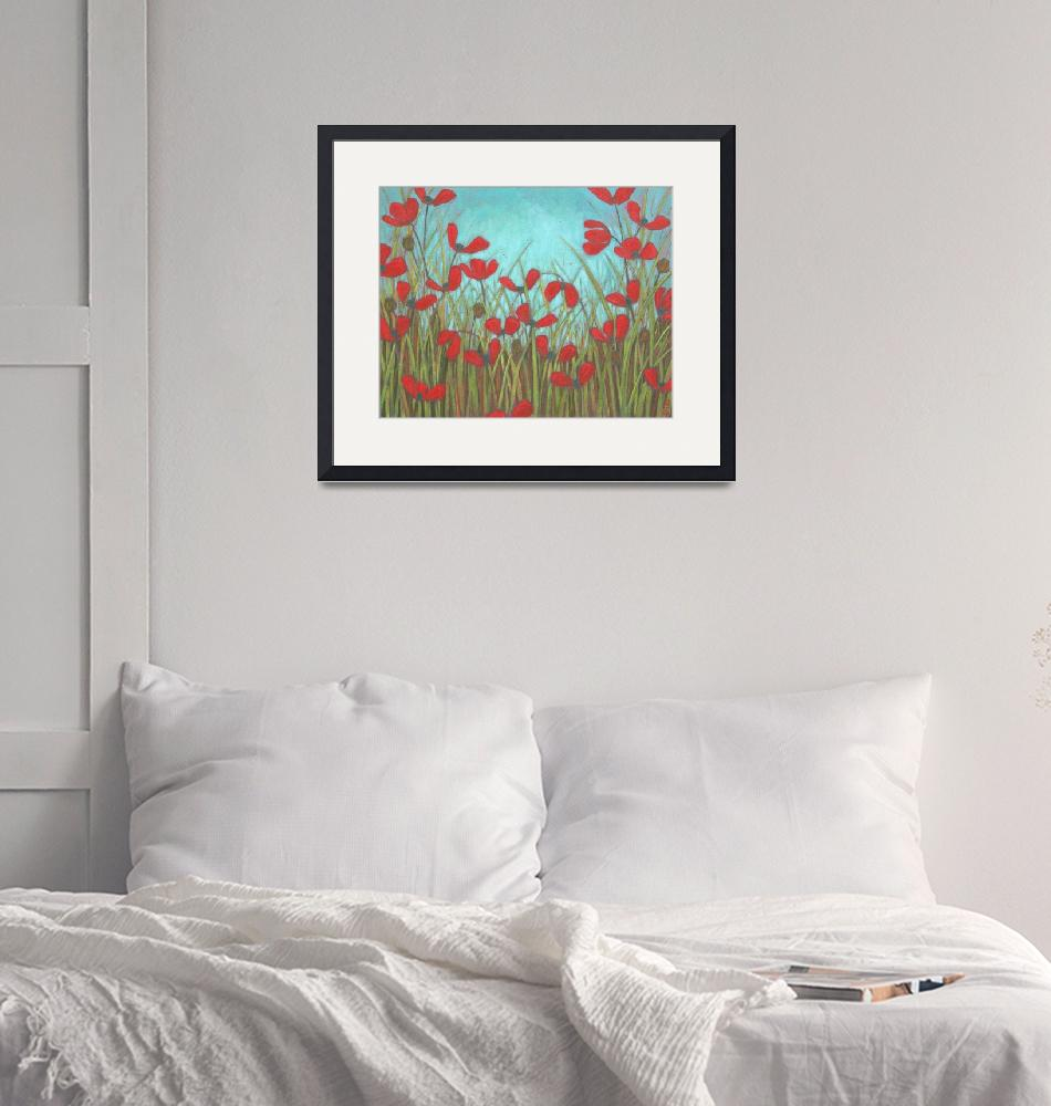 """Red Poppy Field""  (2014) by DreamGallery"