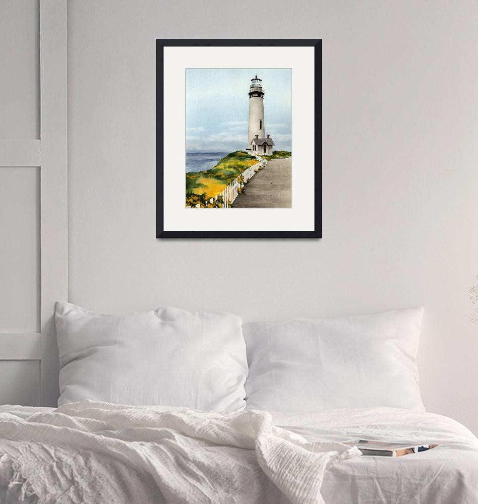 """Pigeon Point Lighthouse""  (2015) by k9artgallery"
