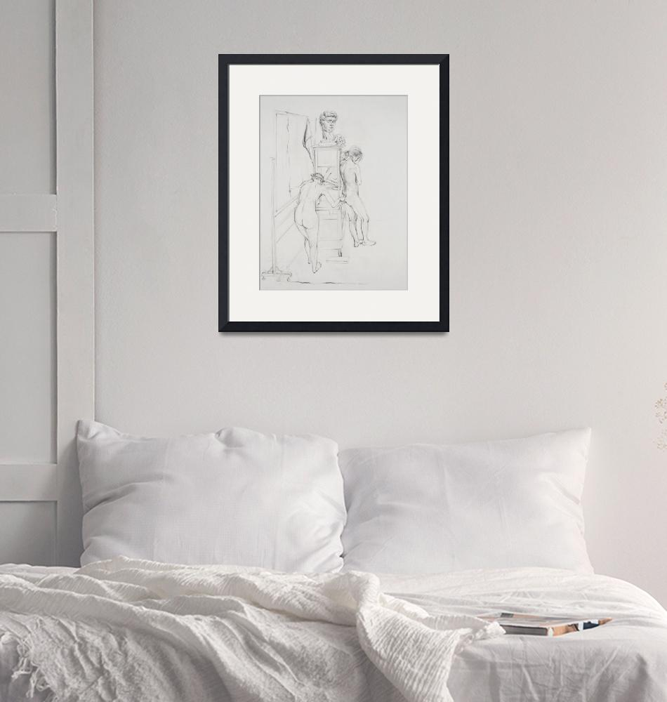 """""""Nude Woman, 3 Pose Study""""  (2012) by JYWArtist"""