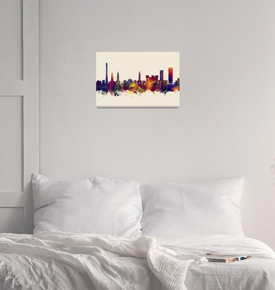 """Erlangen Germany Skyline""  (2018) by ModernArtPrints"