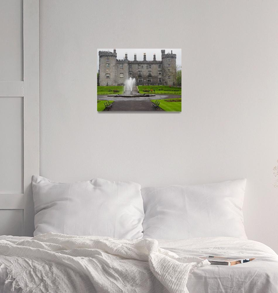 """Kilkenny Castle and Fountain in Ireland""  (2015) by FingerLakesPhotos"