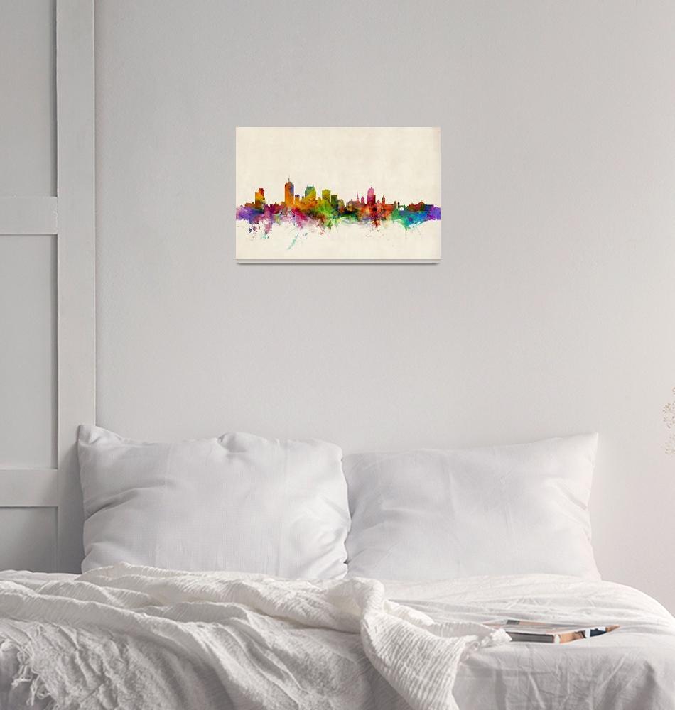 """Quebec Canada Skyline""  (2013) by ModernArtPrints"