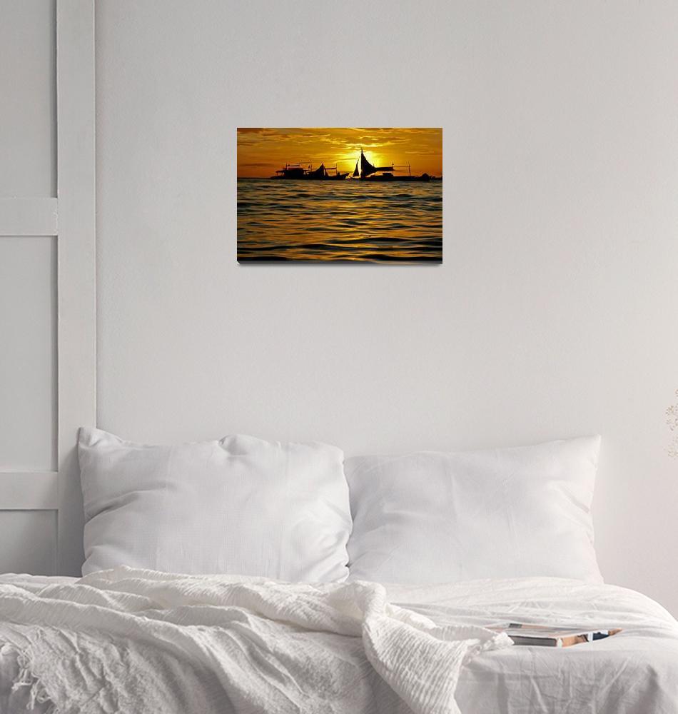 """Boracay Sunset Number 1""  (2005) by haroldbonacquist"
