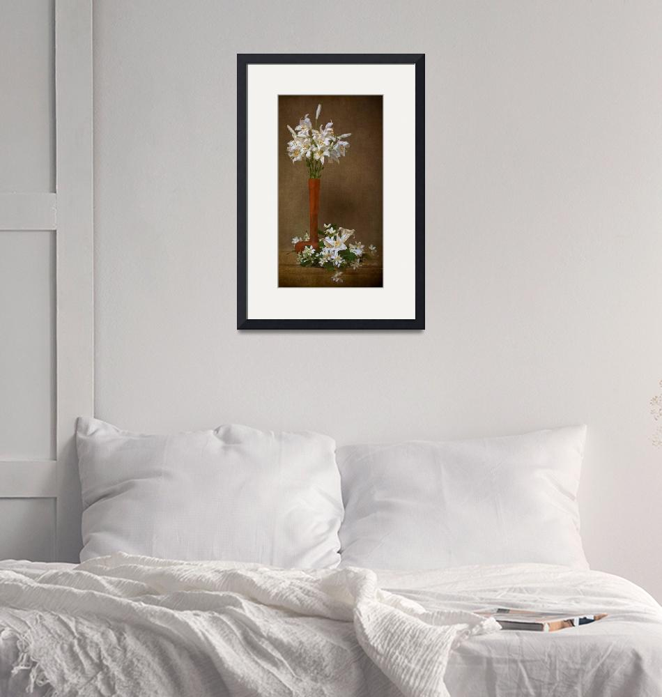 """""""Mid-June Lilies and Mock Orange Blossoms""""  (2010) by LeslieNicole"""
