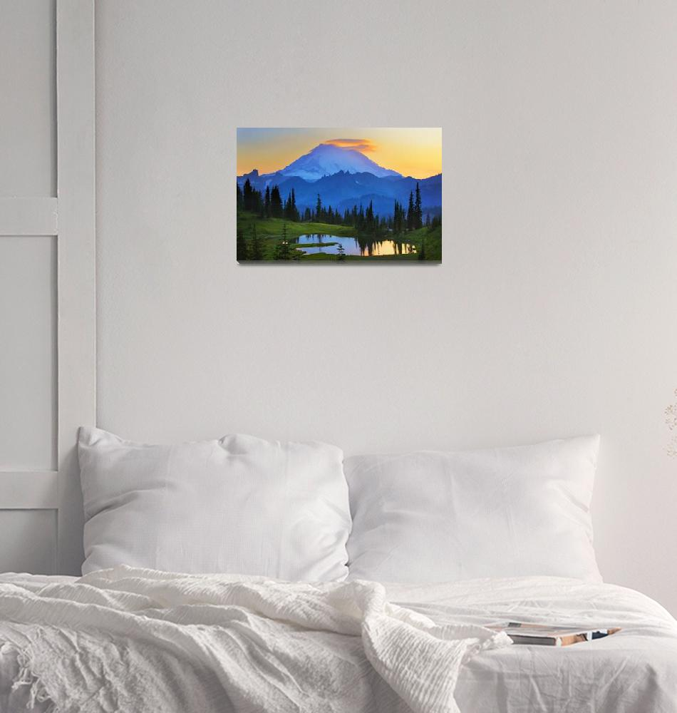 """Mount Rainier Goodnight""  (2009) by Inge-Johnsson"