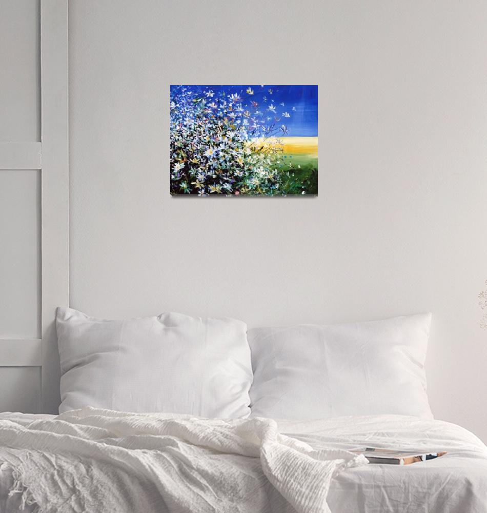 """""""Wild Daisies - Floral Painting By M. Zampedroni""""  (2008) by zampedroni"""