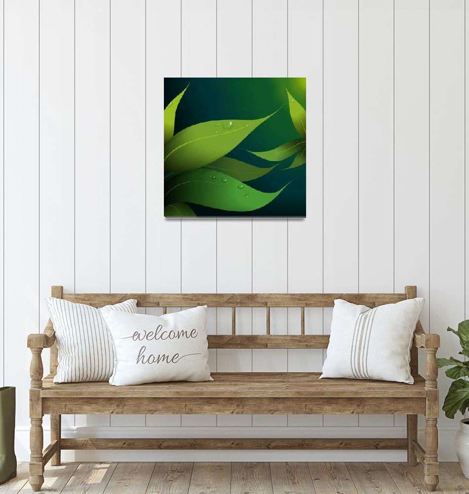 """Greenly leaves""  (2010) by digitalpainting"