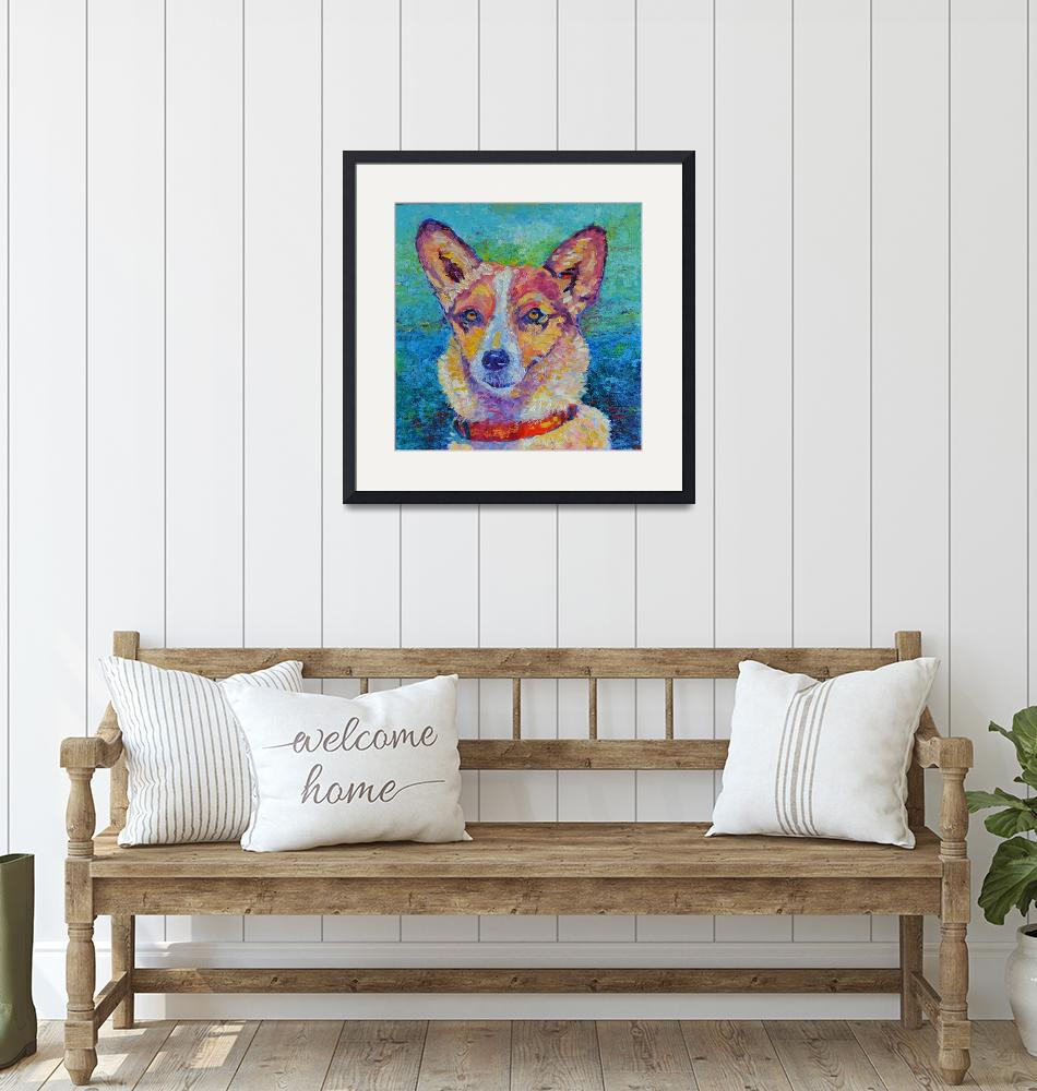 """""""Dog painting Impressionist Modern Pet Portrait""""  (2017) by Maggy"""
