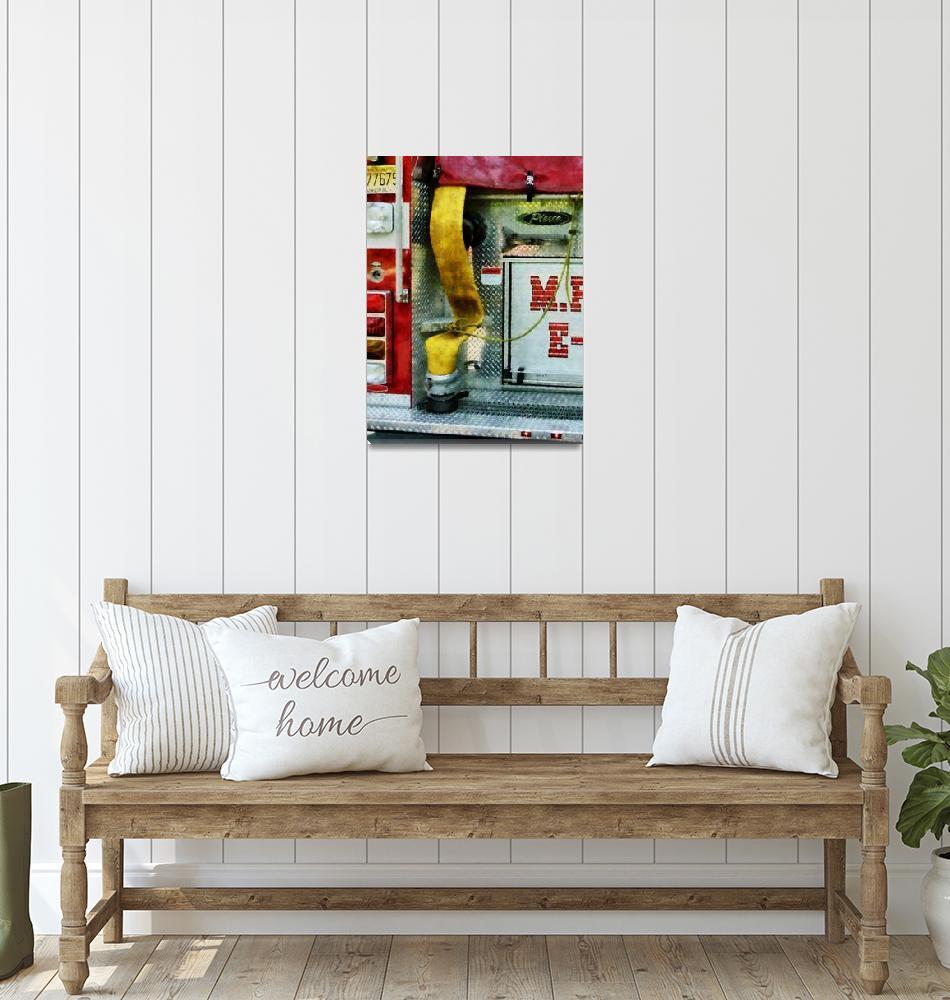 """Yellow Fire Hose""  by susansartgallery"