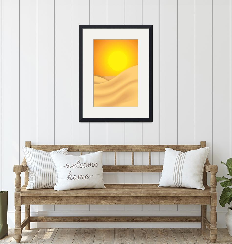 """Digital painting of the sunrise.""  (2009) by digitalpainting"