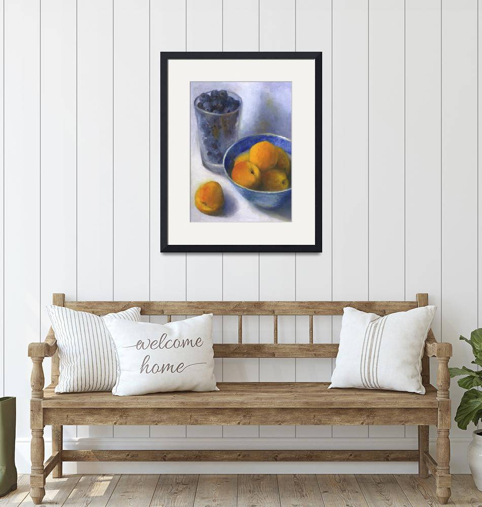 """""""Apricots and a Pint of Blueberries""""  (2008) by JoBradney"""