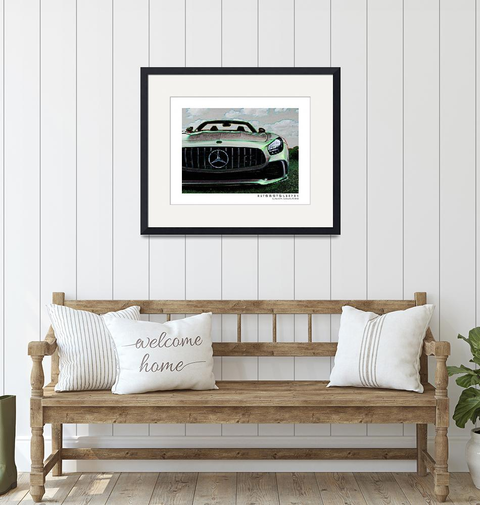 """""""Mercedes AMG GT Poster 2"""" (2021) by Automotography"""