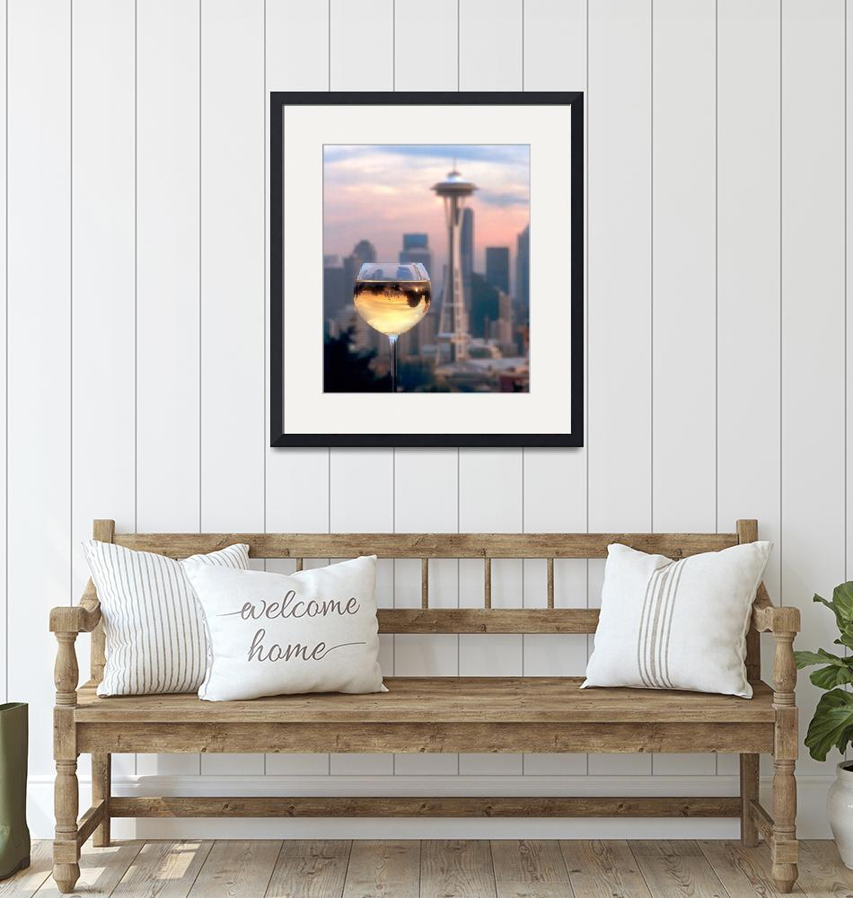 """Seattle in a Glass""  by winecountrycreations"