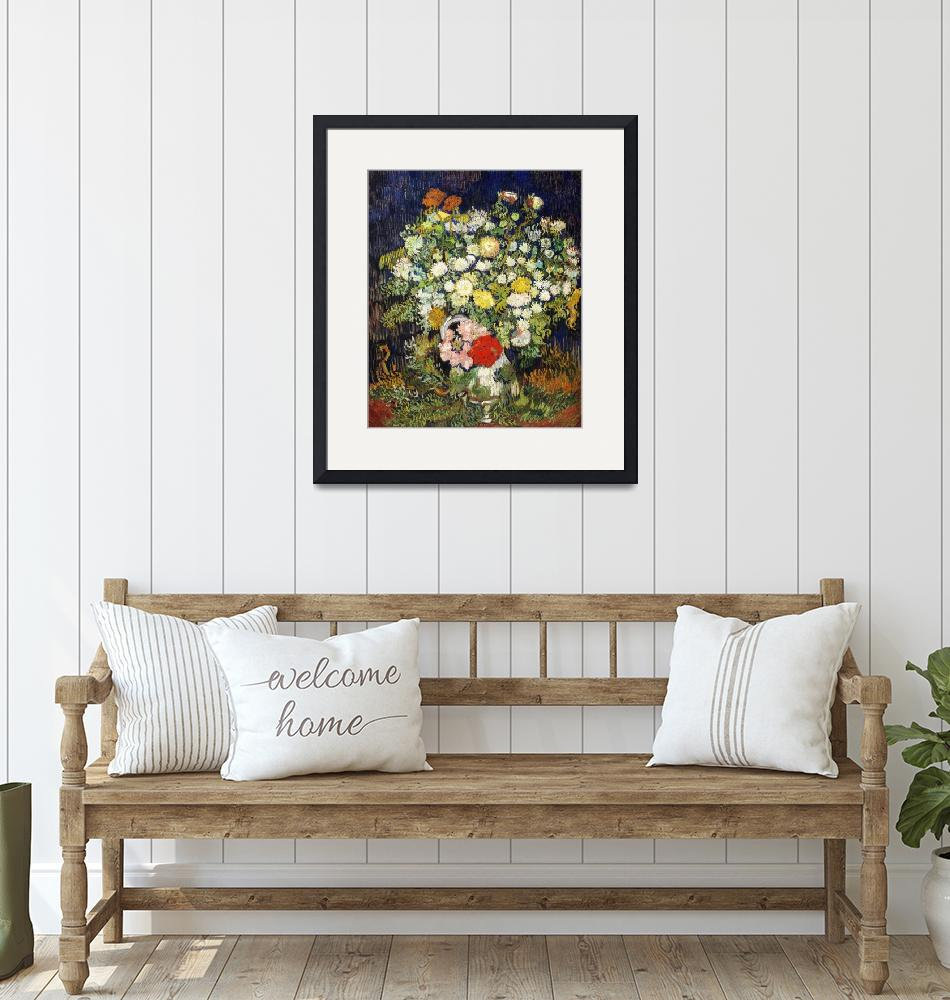 """""""Bouquet of Flowers in a Vase by Vincent Van Gogh"""" by FineArtClassics"""
